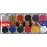 kit 12 colori in box con pennello make up